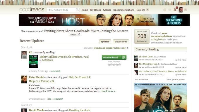 My Goodreads Homepage